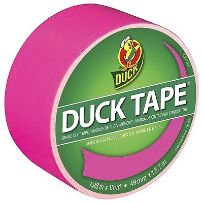 "Duck Colored Duct Tape, 1.88"" X 15 yd, Hot Pink 1 ea (Pack of 5)"