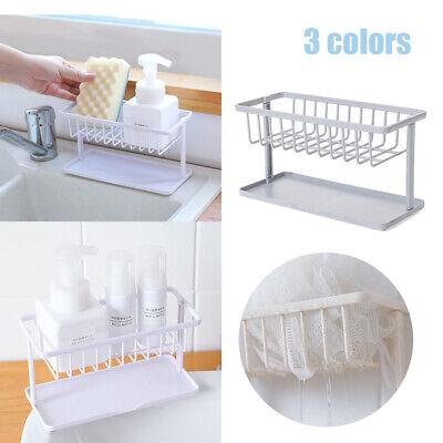 Double-Layer Sponge Holder Kitchen Sink Sponge Drain Shelf Bathroom Organizer BJ