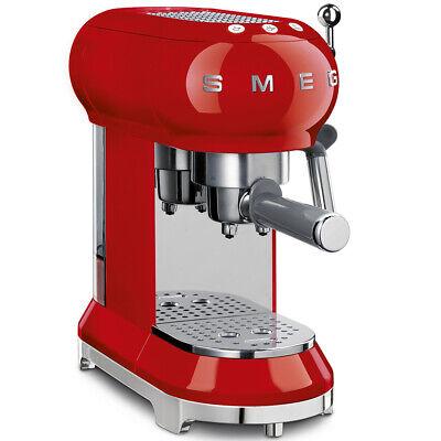 SMEG ECF01 Macchina da Caffè espresso COLORE DESIGN MADE ITALY ROSSA