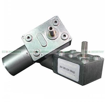 12v 10rpm High Torque Turbine Electric Worm Gear Speed Reducer Gearbox Dc Motor