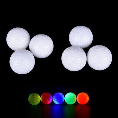 3 Stück Leuchtende Golfbälle LED Leuchten Golf für Nachtübungen Distanzschüsse