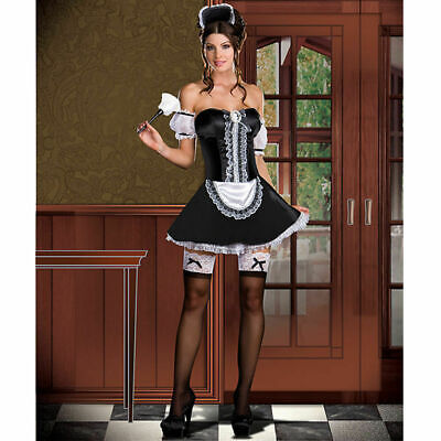 Authentic Dreamgirl 6443 - Sexy Maid Rhonda Vouz Adult Costume - Size Small USA