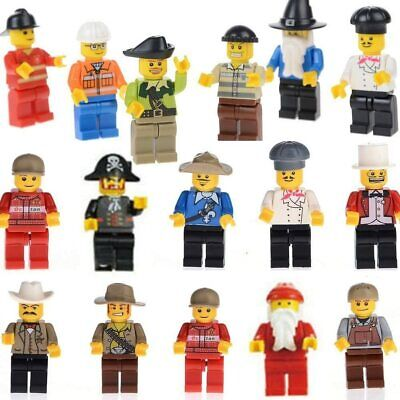 20 NEW LEGO MINIFIGURES TOWN CITY SERIES BOY GIRL TOWN PEOPLE SET