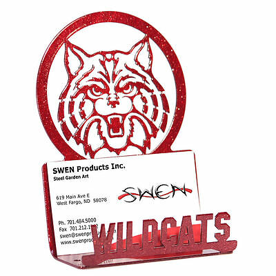 Swen Products Arizona Wildcats Red Metal Business Card Holder