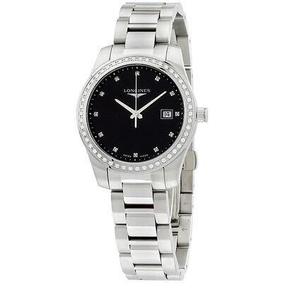 Longines Conquest Women's Watch  Diamonds Black Dial Quartz L34010576