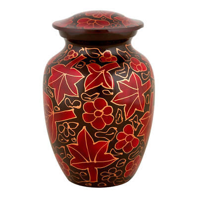 Perfect Memorials Small Harvest Leaves Cremation - Harvest Urn