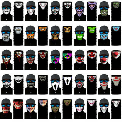 Joker Cycling Motorcycle Head Scarf Neck Warmer Face Mask Ski Balaclava Headband](Joker Ski Mask)