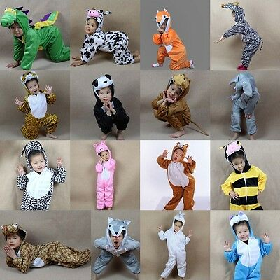 Children Kids Halloween Cartoon Animal Costume Costumes Jumpsuit for Boy - Girl Animal Costumes