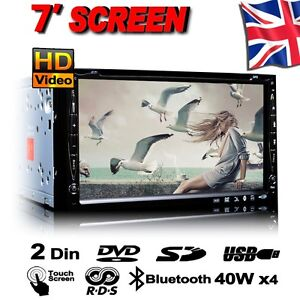 DOUBLE 2 DIN HD TOUCH SCREEN IN CAR CD DVD PLAYER TV RADIO FM AM BLUETOOTH USB