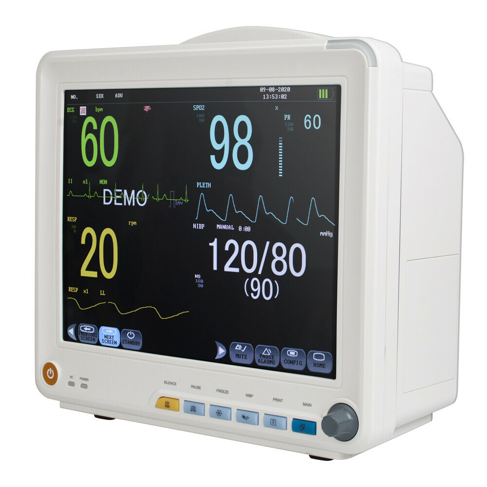 Best NEW HOSPITAL ICU MULTI-PARAMETER VITAL SIGNS PATIENT MONITOR CARDIAC MACHINE 9000A