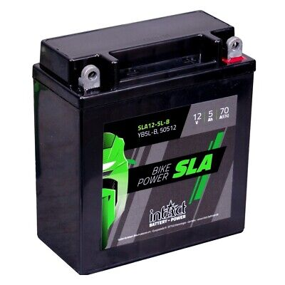 Intact Motorradbatterie SLA12-5L-B Bike Power SLA YB5L-B