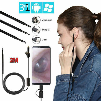 3in1 Ear Cleaning Endoscope Usb 5.5mm Visual Earpick Hd Camera Spoon Otoscope Us