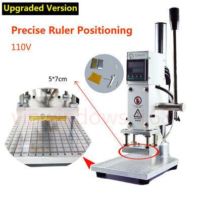 5x7cm Digital Hot Foil Stamping Machine Leather Heat Press Pvc Embossing Printer