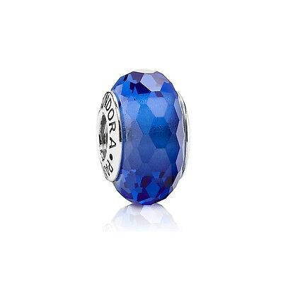 Authentic Pandora Charm Sterling Silver  Murano Glass Fascinating Blue 791067