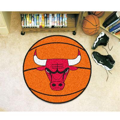 NBA - Basketball Mat 27 Inch Diameter Durable Floor Protector Non Skid Rug Mat