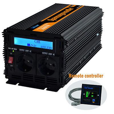 SPANNUNGSWANDLER 3000W - 6000 WATT 24V-230V Softstart WECHSELRICHTER LCD-Anzeige
