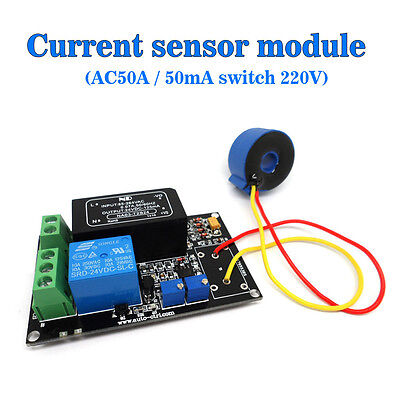 Working Ac 50a Ac Current Sensor Module Detection Module Switch Output