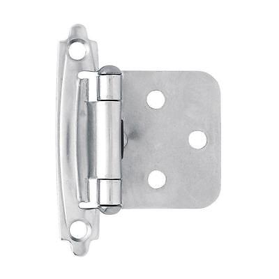 Chrome self closing overlay flush mount cabinet hinge Liberty Hardware H0103AC