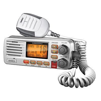 Uniden Um380 Solara Vhf Radio - Class D Dsc - White