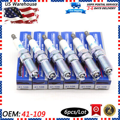 6ps AC DELCO 41-109 IRIDIUM SPARK PLUGS For Buick Cadillac GMC Chevrolet 3.0 3.6