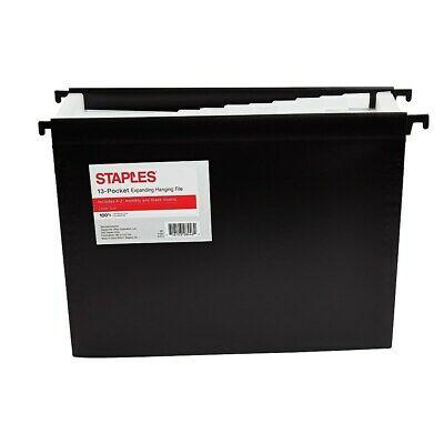 Staples Poly Expanding Hanging File Folder Jan-dec Index Letter 12 Pocket Blk
