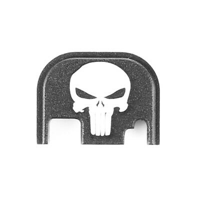 Glock Cover Plate - for GLOCK Slide Rear Back Plate Cover Punisher Laser Engraved 17 17L 19 20 21 22