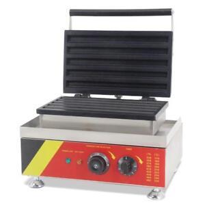 Electric 110V 5pcs Spanish Donut Baker Churros Waffle Maker Machine 220414