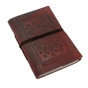Indra Fair Trade Handmade Medium Single Bound Leather Notebook Diary