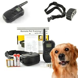 2013 LCD 100LV 300 Meters Shock/Vibra/Sound Remote Pet Dog Training Collar 130lb