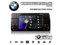 7 Inch HD TouchScreen Car Bluetooth SatNav DVD USB SD Stereo For BMW E46 3 Series