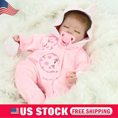 Handmade Reborn Baby Dolls Real Life Soft Vinyl Silicone Baby Doll Girls Gift