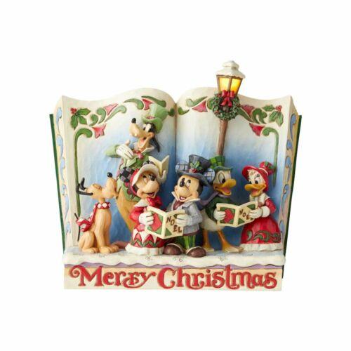 Jim Shore Disney MERRY CHRISTMAS STORYBOOK-MICKEY & FRIENDS CAROL 6002840 NEW