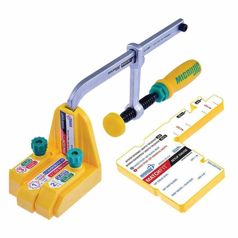 Micro Jig MF-1004 MATCHFIT Dado Stop Pro Kit for Table Saws