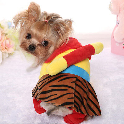 Handsome Monkey King Dog Coat Clothes Pet Doogie Poodle Jumpsuit Warm Outfit M