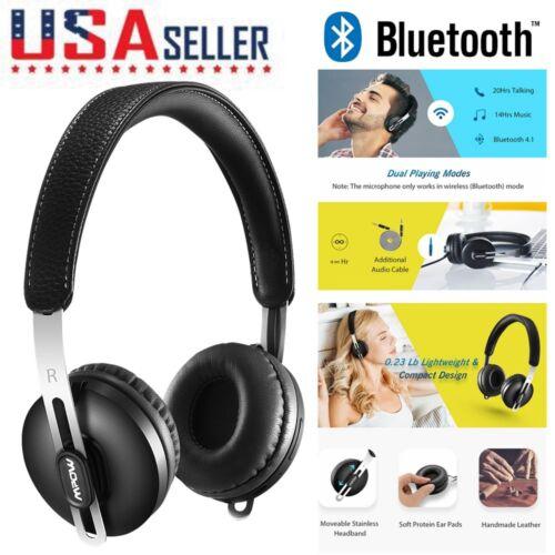 Mpow Bluetooth Headphones Wireless On-ear Headset Adjustable