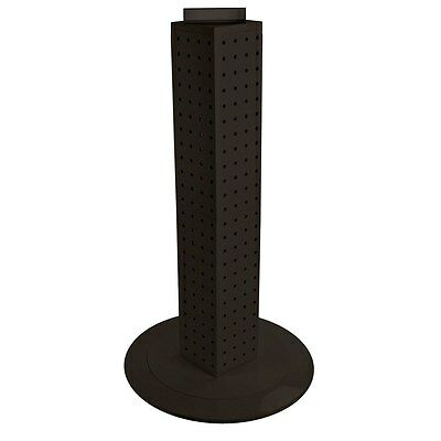 New Black Interlocking Pegboard Display With Revolving Base 4 W X 4 D X 24 H