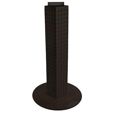 New Black Interlocking Pegboard Display With Revolving Base 4 W X 4 D X 24 H