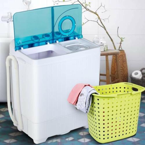 Portable Washing Machine Twin Tub w/ Drain Pump Compact Laun