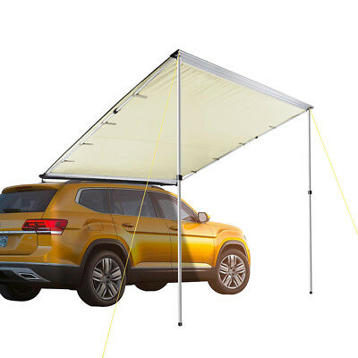 6.6x8.2' Car Side Awning Rooftop Tent Sun Shade SUV Outdoor Camping Travel Beige