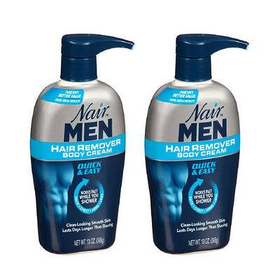 2 Pack - Nair Men Hair Removal Body Cream 13 oz (368 g) Each