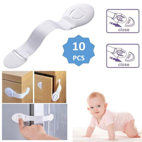 Baby Safety Lock Child Kids Proof Cupboard Cabinet Drawer Wardrobe Doors Oven