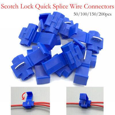 Quick Splice Scotch Lock Wire Connectors Electrical Crimp Terminals Cable Snap