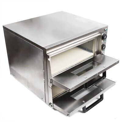 Pizza Oven Commercial Stainless Steel 3kw Ceramic Stone Restaurant Baking Tool