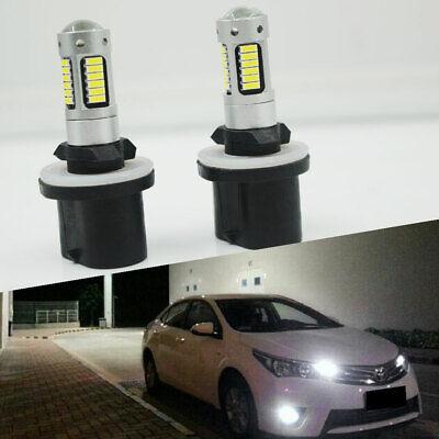 2X 880 30-SMD LED PROJECTOR BULBS BRIGHT WHITE 6000K FOG LIGHTS /HIGH BEAM DRL