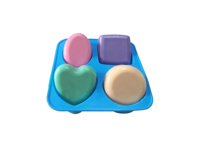 Basic Square Heart Oval Round Soap Mold Candle Mak