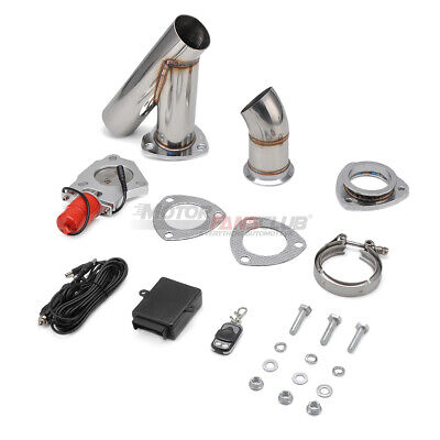 2.5inch Stainless Steel Headers Electric Exhaust CutOut Kit with Remote control