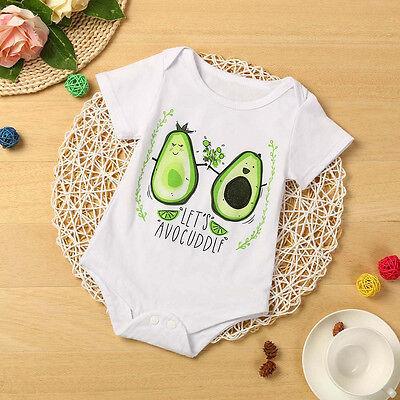 Infant Kids Baby Girl Boy Fruit Letters Bodysuit Romper Jumpsuit Clothes Outfits