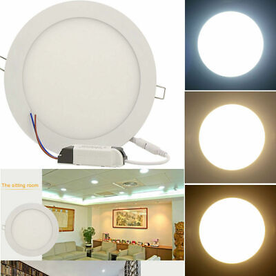LED Panel Licht Ultraslim Strahler für Einbau Decken Leuchte Dimmbar Lamp 3W-24W Ultra Slim Panel