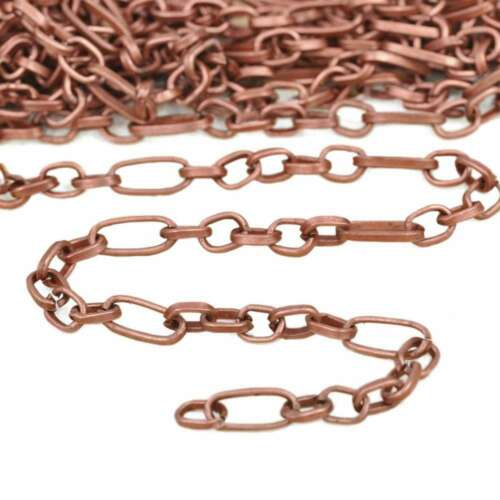 2M Iron Textured Cable Chain Unfinished Jewelry Chains 8.6x3.9x1.1mm Wholesale