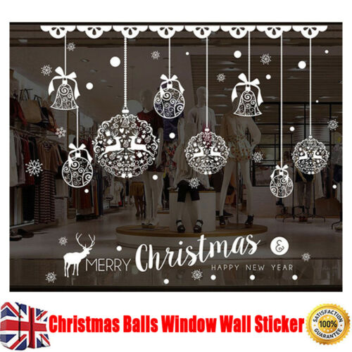 Home Decoration - Christmas Balls Window Wall Sticker Removable Home Shop Xmas Cozy Decor Pretty